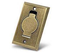Пневморозетка настенная (металлическая, цвета: бронза, хром, латунь)